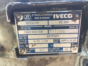 cambio iveco daily 35C13 zf 6 s 300 zf 1323 050 009 iveco 8870504 (2)